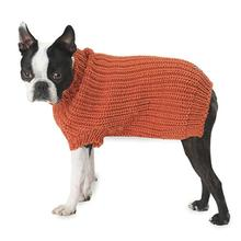 Morgan's Fisherman Dog Sweater - Orange