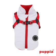 Mountaineer Dog Coat by Puppia - White