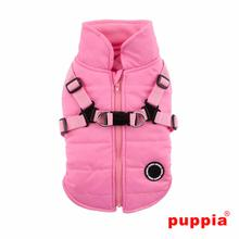 Mountaineer Harness Dog Coat by Puppia - Pink