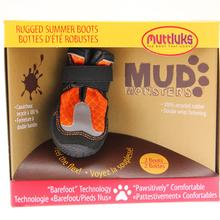 Muttluks Mud Monster Dog Boots - Orange with Reflective Trim