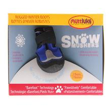 Muttluks Snow Mushers Dog Boots - Blue with Reflective Trim