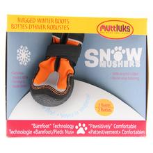 Muttluks Snow Mushers Dog Boots - Orange with Reflective Trim