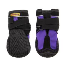 Muttluks Snow Mushers Dog Boots - Purple with Black Trim