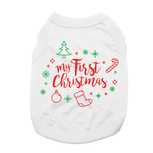 My First Christmas Dog Shirt - White