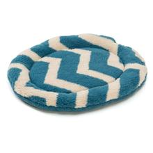 Nature Nap Oval Pet Bed - Blue Chevron