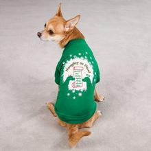 Naughty or Nice Christmas Dog T-Shirt - Green