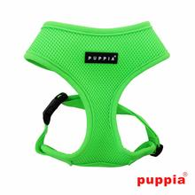 Neon Soft Adjustable Dog Harness by Puppia - Green