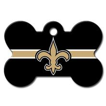 New Orleans Saints Engravable Pet I.D. Tag - Bone