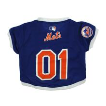 New York Mets Baseball Dog Jersey - Blue with White Trim