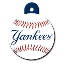 New York Yankees Engravable Pet I.D. Tag - Circle