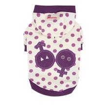 Nila Hooded Dog Shirt by Pinkaholic - Purple