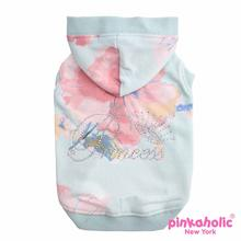 Nobility Hooded Dog Shirt by Pinkaholic - Sky Blue