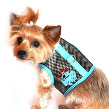 Octopus Pirate Mesh Dog Harness - Teal and Black
