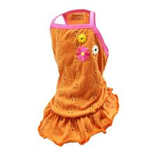 Orange Blossom Eyelet Dog Dress by Hip Doggie