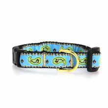Paisley Cat Collar by Up Country - Blue