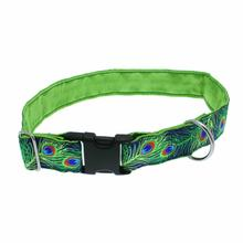 Paradise Found Wide Satin Lined Dog Collar