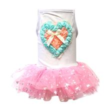 Parisian Pet Hearts and Tulle Dog Dress