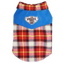 Parisian Plaid Camp Dog Shirt - Red