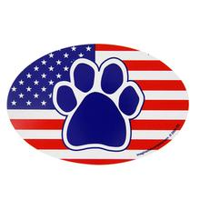 Patriotic Paw Oval Magnet
