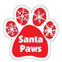 Paw Magnet - Santa Paws