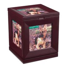 Peaceful Pet Revolving Mahogany Memorial Box