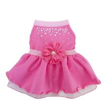 Pearl Flower Dog Dress - Pink Taffy