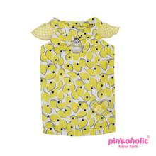 Peeps Dog Dress by Pinkaholic - Yellow