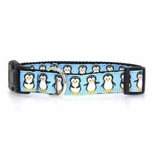 Penguins Nylon Ribbon Dog Collar