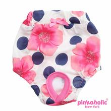 Peonies Dog Sanitary Pants by Pinkaholic - Pink
