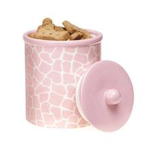 Pet Studio Sweet Safari Pet Treat Canister - Petal Pink