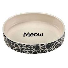 Pet Studio Wild Time Cat Dish - Black