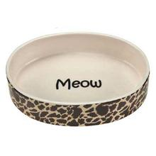 Pet Studio Wild Time Cat Dish - Brown