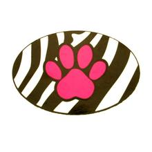 Pet Tails Oval Magnet - Pink