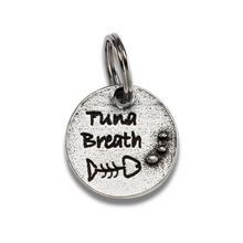Pewter Cat Collar Charm - Tuna Breath