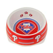 Philadelphia Phillies Plastic Dog Bowl