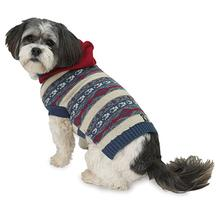 Phoebe's Hooded Fair Isle Dog Sweater - Cranberry