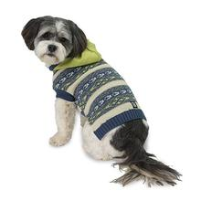 Phoebe's Hooded Fair Isle Dog Sweater - Lime Green