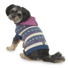Phoebe's Hooded Fair Isle Dog Sweater - Purple