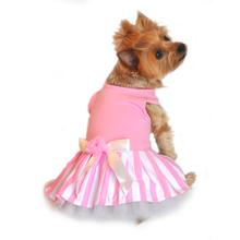 Pink Striped Dog Tank Dress