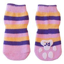 Pink Stripes PAWks Dog Socks