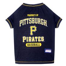 Pittsburgh Pirates Dog T-Shirt - Navy Blue
