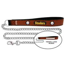Pittsburgh Steelers Leather Dog Leash