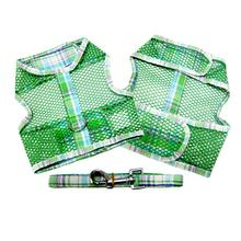 Plaid Cool Mesh Dog Harness - Green