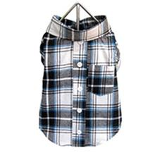 Plaid Dog Shirt - Blue