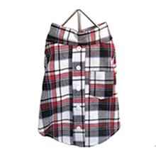 Plaid Dog Shirt - Red