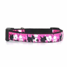 Pink Plaid Scottie Pups Dog Collar