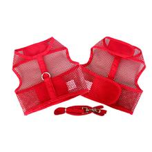 Plain Cool Mesh Dog Harness by Doggie Design - Red