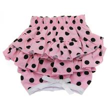 Polka Dot Ruffles Dog Panties - Pink and Black