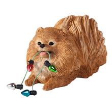 Pomeranian with Lights Christmas Ornament