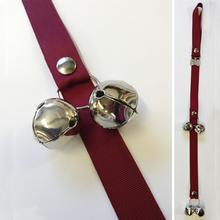 Poochie Bells Dog Doorbell Solid Design - Cherry Red